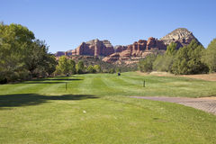Sedona Golf Hole Royalty Free Stock Image