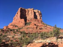 Sedona Hiking Trail Bell. Sedona hiking trail in Arizona red rocks Royalty Free Stock Images