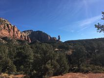 Sedona Hiking Trail Bell. Sedona hiking trail in Arizona red rocks Royalty Free Stock Image