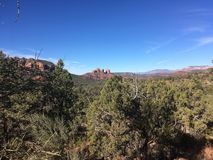 Sedona trail. Sedona hiking trail in Arizona red rocks Royalty Free Stock Photography