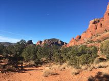 Sedona Hiking Trail Bell. Sedona hiking trail in Arizona red rocks Royalty Free Stock Photo