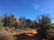 Sedona Hiking Trail Bell. Sedona hiking trail in Arizona red rocks Stock Photography