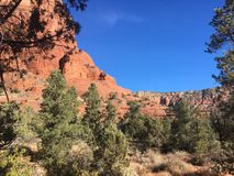 Sedona Hiking Trail Bell. Sedona hiking trail in Arizona red rocks Stock Photo