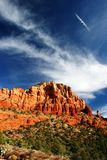 Sedona Holy Cross. Beautiful skies above Chapel of the Holy Cross in Sedona Royalty Free Stock Photography