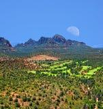 Sedona księżyc Zdjęcie Royalty Free