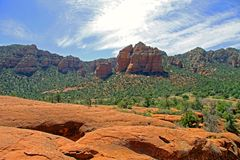 Sedona Landscape. Airport Mesa in Sedona, visited for meditations and energy Stock Image