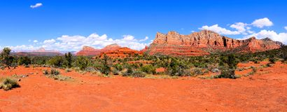 Sedona landscape panorama Royalty Free Stock Images