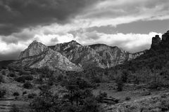 Sedona Landschaft in B&W Stockfotografie