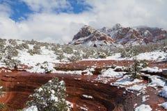 Sedona landskap i vinter Royaltyfria Bilder