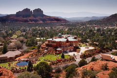 Sedona mansion and city landscape Stock Image