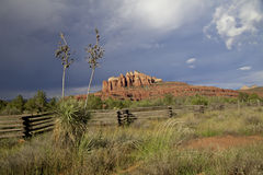 Sedona and Monsoon Stock Images