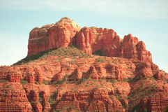 Sedona Mountain. View of Mountain in Sedona Arizona in the middle of the afternoon royalty free stock images