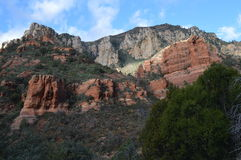 Sedona Mountain. Autumn Mountains in Sedona, Arizona Stock Photos