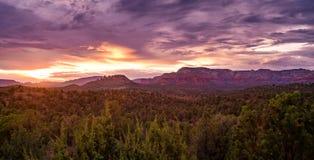Sedona Mountainscape at Sunset royalty free stock image