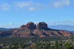 Sedona Mountains Double Monuments. Autumn Scene  in Sedona, Arizona Royalty Free Stock Photography