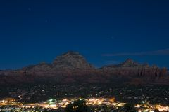 Sedona by night Royalty Free Stock Image