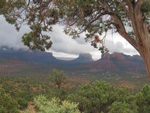 Sedona o Arizona em um dia nebuloso Imagens de Stock Royalty Free
