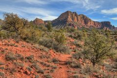 Sedona, o Arizona tem rochas e colunas alaranjadas bonitas no deserto fotos de stock royalty free