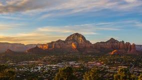 Sedona på solnedgången, Arizona Royaltyfri Bild