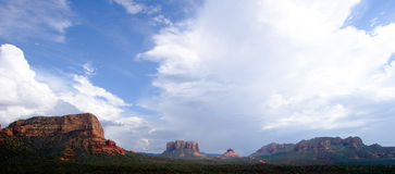 Sedona Panorama. Overview of Sedona hills in panorama format royalty free stock image