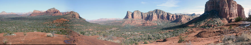 Sedona-Panorama Stockfotos