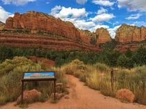 Sedona, pista de senderismo de Arizona imágenes de archivo libres de regalías