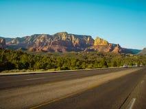 Sedona pustyni droga Zdjęcie Stock