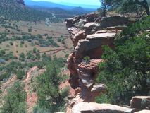 Sedona Red Rock Cliffs. This was taken off the bear mountain trail after a steep vertical climb Stock Images