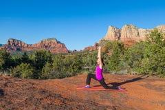 Sedona Red Rock Yoga Practice Stock Photography