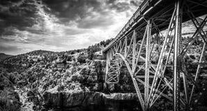 Sedona red rocks bridge Stock Images