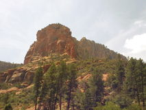 Sedona Red Rocks In Oak Creek Valley Stock Photo