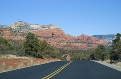 Sedona, route de l'Arizona Photographie stock