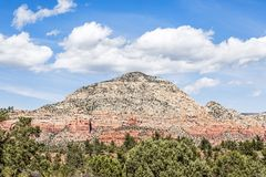 Sedona`s Capitol Butte or Thunder Mountain Royalty Free Stock Photo