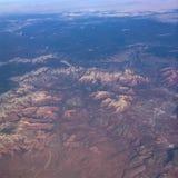 Sedona from the Sky Stock Image
