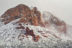 Sedona Snowy Winter Landscape Stock Photos