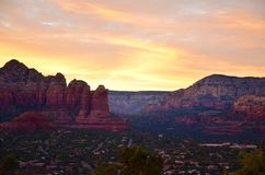 Sedona-Sonnenuntergang Lizenzfreies Stockfoto