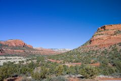 Sedona, strada dell'Arizona Immagini Stock
