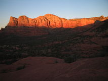 Sedona Sunset. Cathedral Rock at sunset in Sedona, Arizona royalty free stock photos