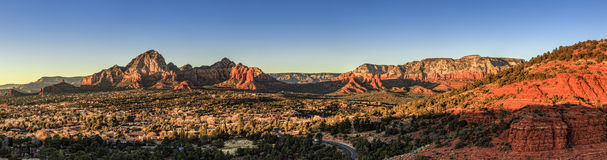Sedona at sunset Stock Photography