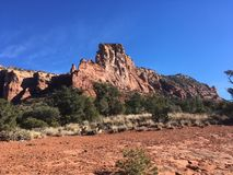 Sedona trail. Sedona hiking trail in Arizona red rocks Stock Image