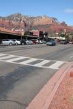 Sedona van de binnenstad Arizona stock fotografie