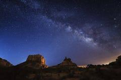 Sedona Vintergatan Arkivbild