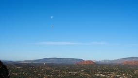 Sedona Vortex, Arizona. Sedona Vortex, Red Rocks, Arizona, hot air balloon, earth energy swirls, Airport Mesa Vortex Stock Images