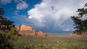 Sedona wijd Geschoten Arizona Royalty-vrije Stock Afbeeldingen