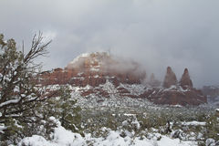 Sedona Winter Landscape Stock Photography