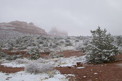 Sedona Winter Landscape Stock Image