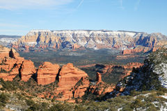 Sedona winter landscape Royalty Free Stock Photo