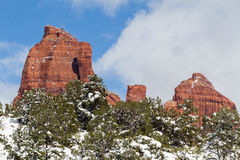 Sedona Winter Landscape Stock Images