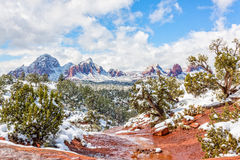 Sedona Winter Scenic Landscape Stock Photography