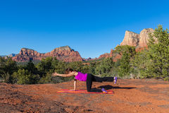 Sedona Yoga Practice Stock Photography